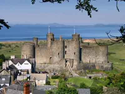 Harlech Castle from east