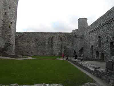 Harlech Castle - View towards chapel & west range of inner courtyard
