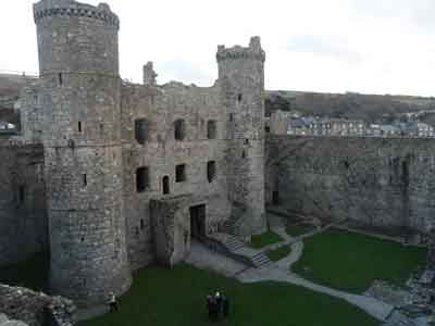 Harlech Castle - Rear Gatehouse