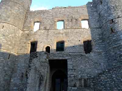 Harlech Castle - inner west wall