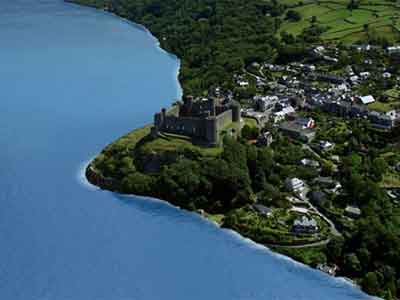Harlech Castle on sea